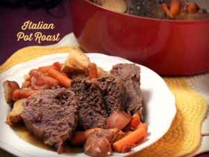 Slow Cooker Zesty Italian Pot Roast and Gooseberry Patch Giveaway