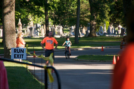 Biking During the Columbus Triathlon