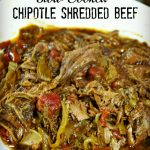 slow cooked chipotle shredded beef