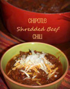 Chipotle Shredded Beef Chili. My new favorite chili recipe.