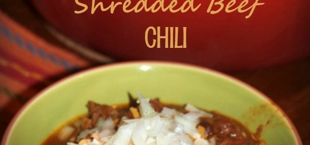 Chipotle Shredded Beef Chili