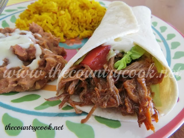 Shredded Beef Tacos (all rights reserved, thecountrycook.net)