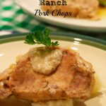 Crock Pot Ranch Pork Chops have just three ingredients but will leave you with flavorful, juicy pork chops for dinner.