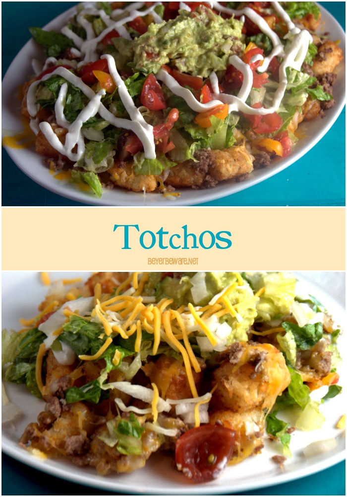 Totchos Platter -Tater Tots topped with traditional nacho toppings ...