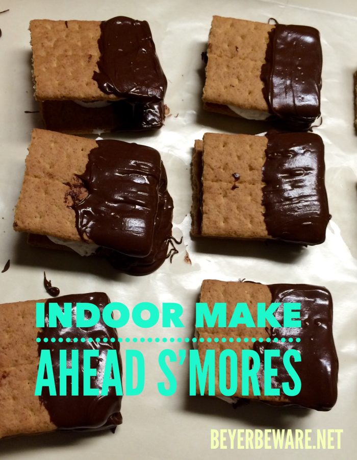 Indoor make ahead s'mores are quick to make and always a favorite for kids and adults.