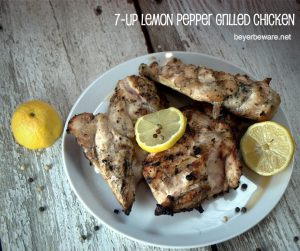Hunk of Meat Monday: 7-Up Lemon Pepper Grilled Chicken