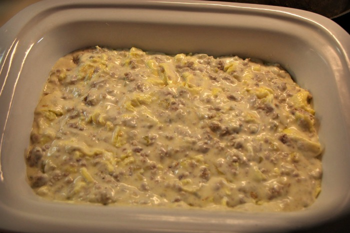 Crock Pot Scrambled Egg Casserole is a great breakfast for supper meal that can dropped in the crock pot and forgot about while you out doing evening activities.
