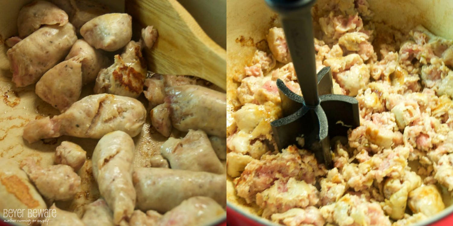 If a recipe calls for ground pork, brats can be used in place of ground pork. Just remove the meat from the casings.