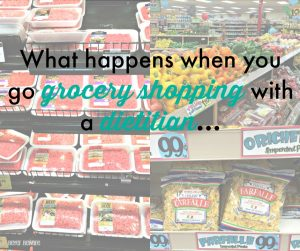 When you go grocery shopping with a dietitian