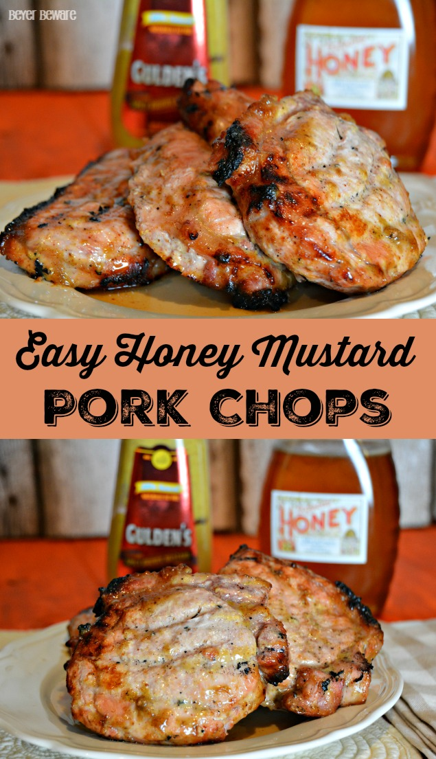 Easy Honey Mustard Pork Chops are a quick and easy pork chop recipe that can be grilled or baked.