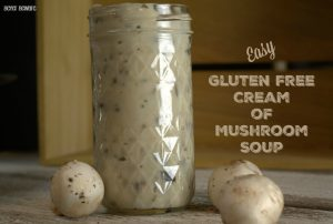 Easy Gluten Free Cream of Mushroom Soup