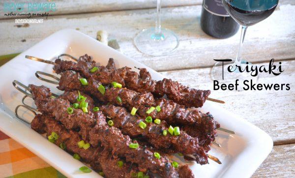 Teriyaki Beef Cube Steak Skewers Beyer Beware