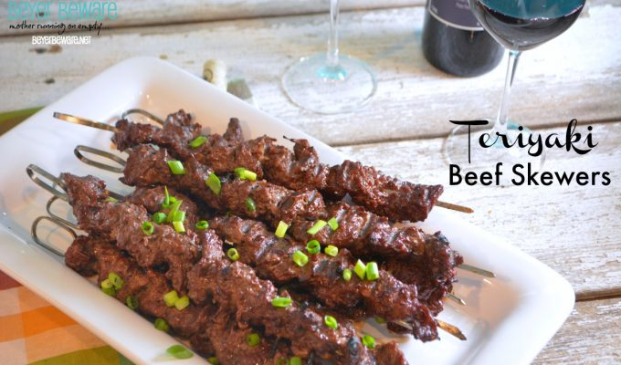 Teriyaki Beef Cube Steak Skewers