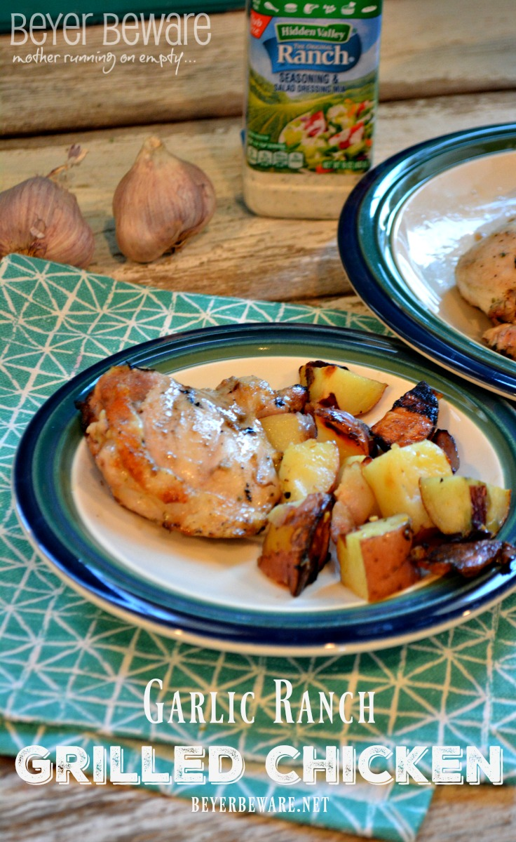 Garlic Ranch Chicken recipe gives you juicy, flavorful grilled or baked chicken.