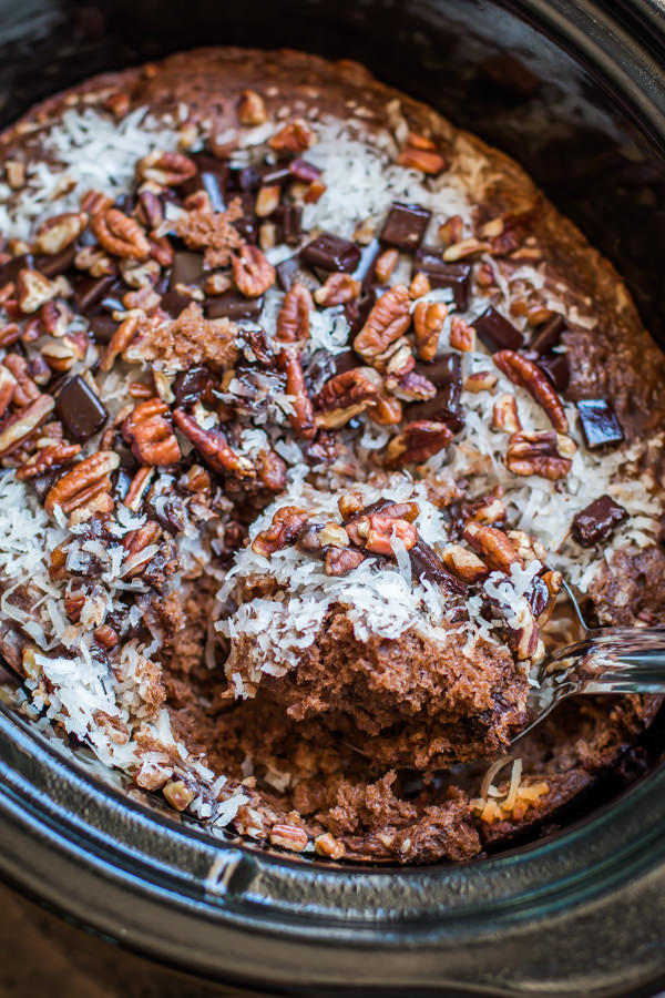 Crock Pot German Chocolate Cake
