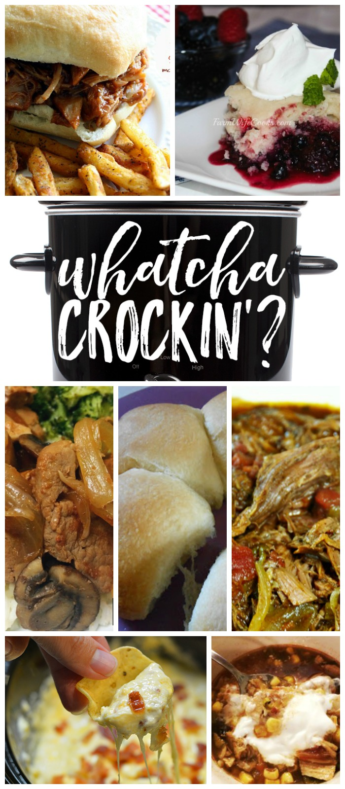 This week's Whatcha Crockin' crock pot recipes include Bacon Double Cheese Dip, Mixed Berry Dump Cake, Slow Cooker Chipotle Shredded Beef, E-Z Slow Cooker Dinner Rolls, Crock Pot Root Beer Pulled Pork Sandwiches, Crock Pot Turkey Tortilla Soup, Slow Cooker Cantonese Pork and more!