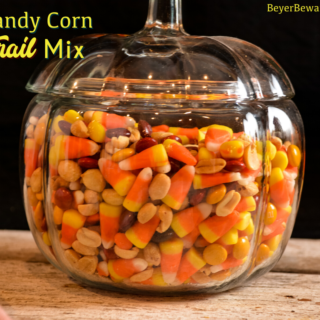 """Candy corn trail mix has a combination of fall candy flavors that is just like a chocolate payday bar with the candy corn, peanut, and m&m trail mix. Nothing says, """"Hello Fall!"""" quite like this candy corn snack mix."""