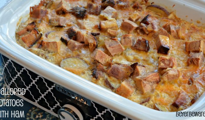 Crock Pot Scalloped Potatoes with Ham