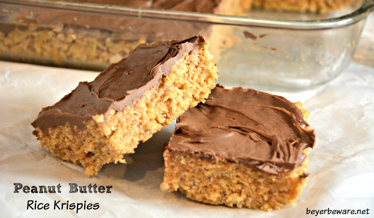 Scotcheroos peanut butter rice krispies beyer beware for Desserts you can make with peanut butter