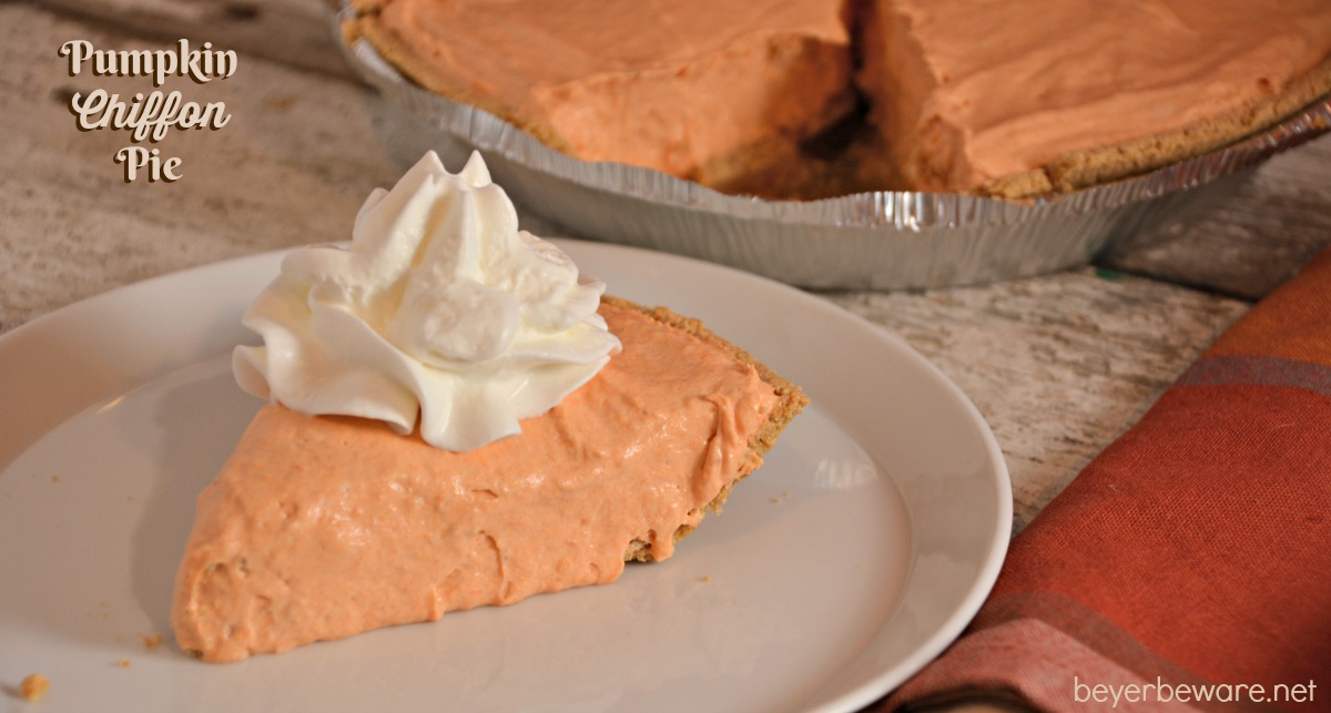 Pumpkin Chiffon Pie - Beyer Beware