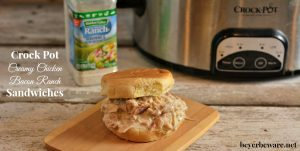 Crock Pot Creamy Chicken Bacon Ranch Sandwiches