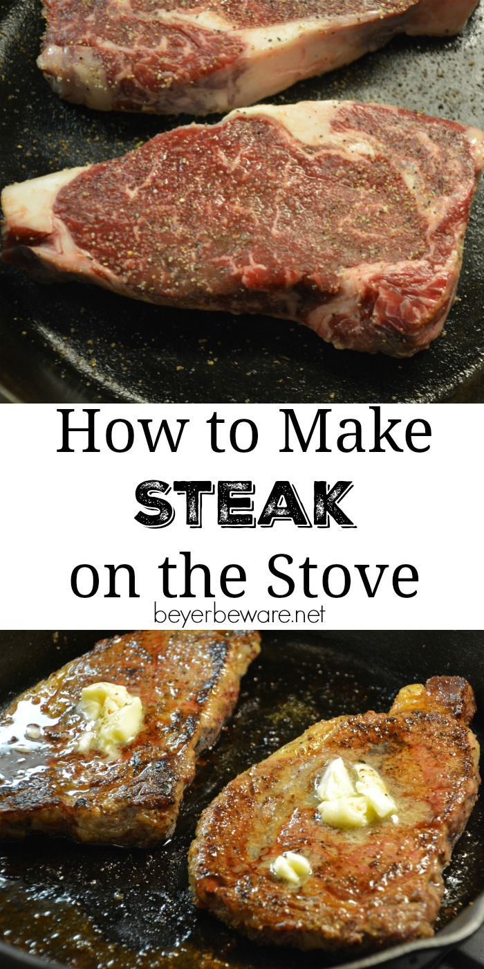 Steaks don't have to be just made on the grill. Juicy steaks can be made inside too. See how to make a steak on the stove and in the oven.