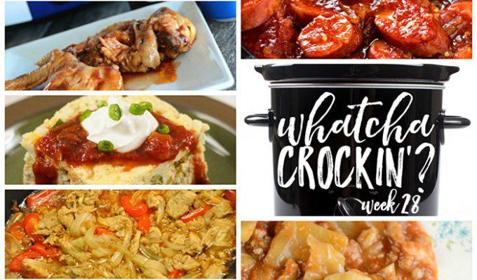 Crock Pot Sweet and Spicy Kielbasa Bites – Whatcha Crockin' – Week 28