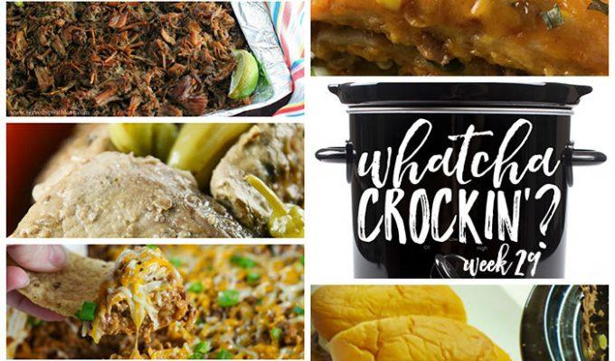 Crock Pot Spicy Enchilada Stack – Whatcha Crockin' – Week 29