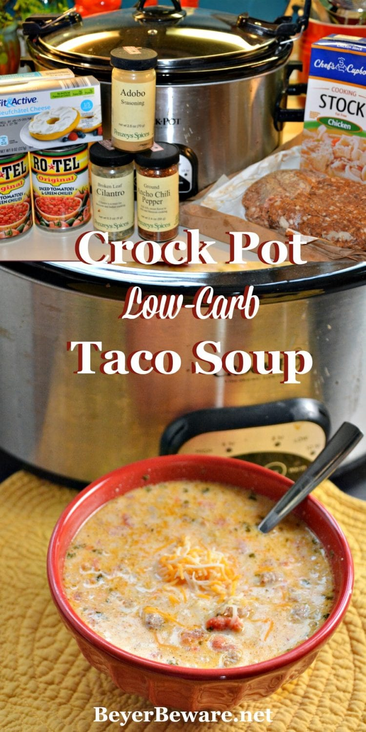 Whether you are eating low-carb or gluten-free, this crock pot low-carb taco soup recipe is sure to be loved regardless of if you are on a diet or not.