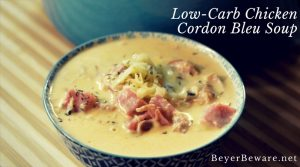 Low-Carb Chicken Cordon Bleu Soup