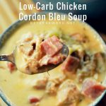The low-carb chicken cordon bleu soup is creamy and flavorful. The richness will make it filling and comforting on a chilly winter night.