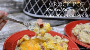 Crock Pot Smoked Sausage and Hashbrown Casserole