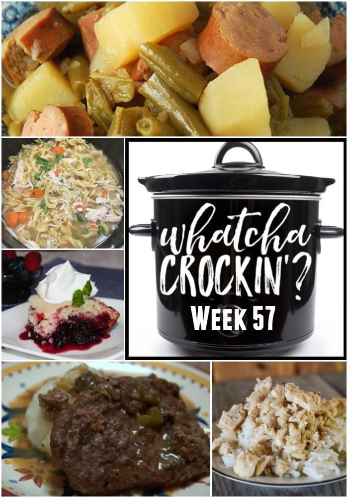 This week's Whatcha Crockin' crock pot recipes include Slow Cooker Beef and Noodles, Slow Cooker Sausage Stuffed Peppers, Crock Pot Cheesy Corn and Smoked Sausage Bake, Slow Cooker Steak and Gravy, Instant Pot Buffalo Wings, Mississippi Roast, Crock Pot Hot Fudge Peanut Butter Cake, Instant Pot Sous Vide Bacon Egg Bites and many more!