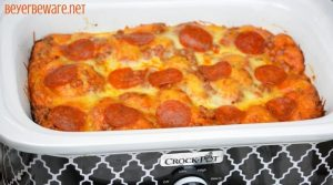 Crock Pot Bubble Up Pizza Casserole