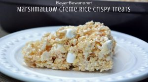 Marshmallow Creme Rice Crispy Treats