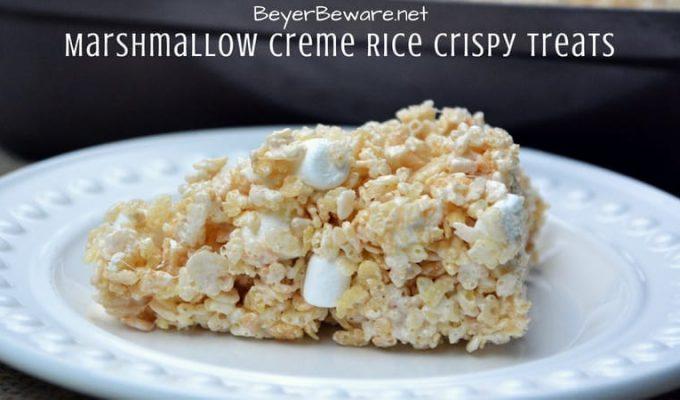 Marshmallow Creme Rice Crispy Treats