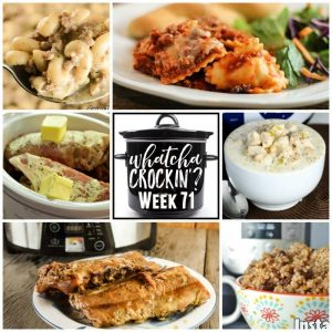 Slow Cooker Cheesy Ravioli Casserole – Whatcha Crockin' – Week 71