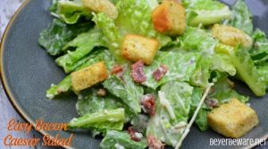 Easy Bacon Caesar Salad