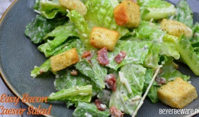 Easy Bacon Caesar Salad
