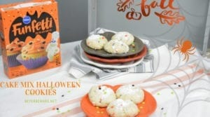 Cake Mix Halloween Cookies – Halloween Ooey Gooey Butter Cookies