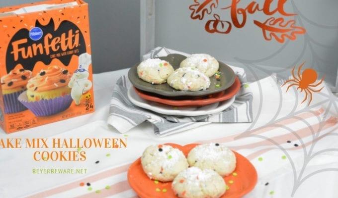 Cake Mix Halloween Cookies – Halloween Ooey Gooey Butter Cookies