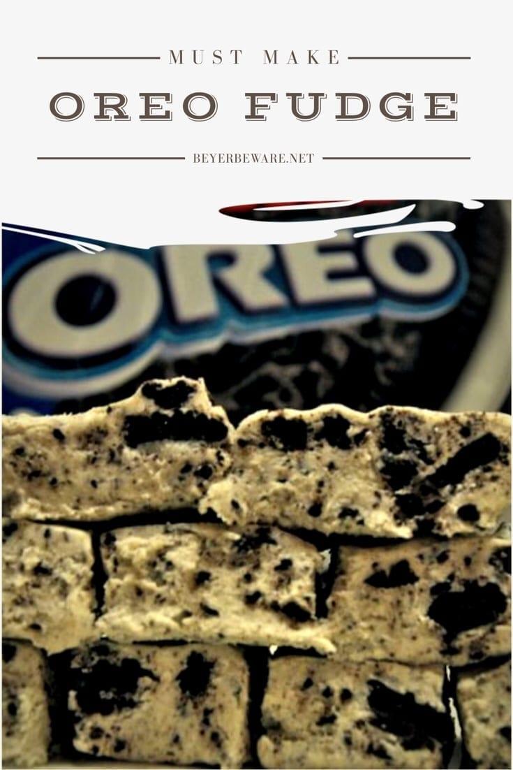 Cookies 'N Cream Fudge recipe is the soft and decadent oreo fudge recipe that is an easy fudge recipe and always a hit. #oreo #fudge