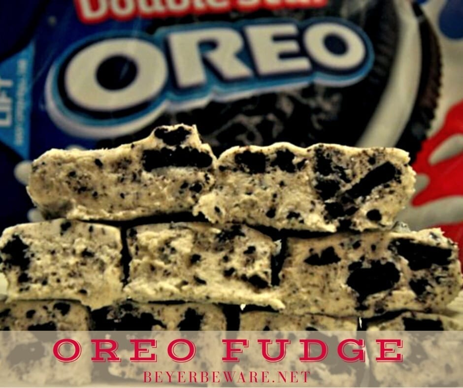Cookies 'N Cream Fudge recipe is the soft and decadent oreo fudge recipe that is an easy fudge recipe and always a hit.