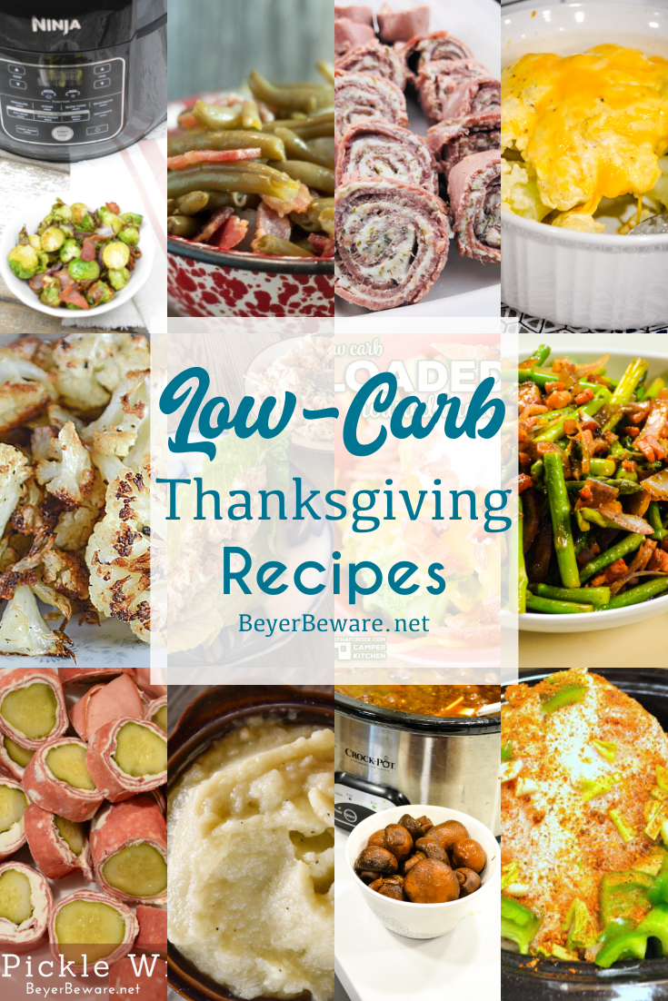 Low-Carb Thanksgiving Day recipes to help you feed all of your guests breakfast, lunch, and dinner without feeling like they missed out on their favorites.