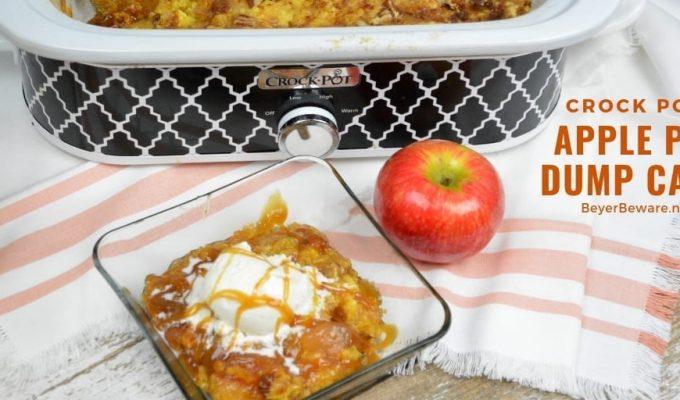 Crock Pot Apple Pie Dump Cake with Pecans