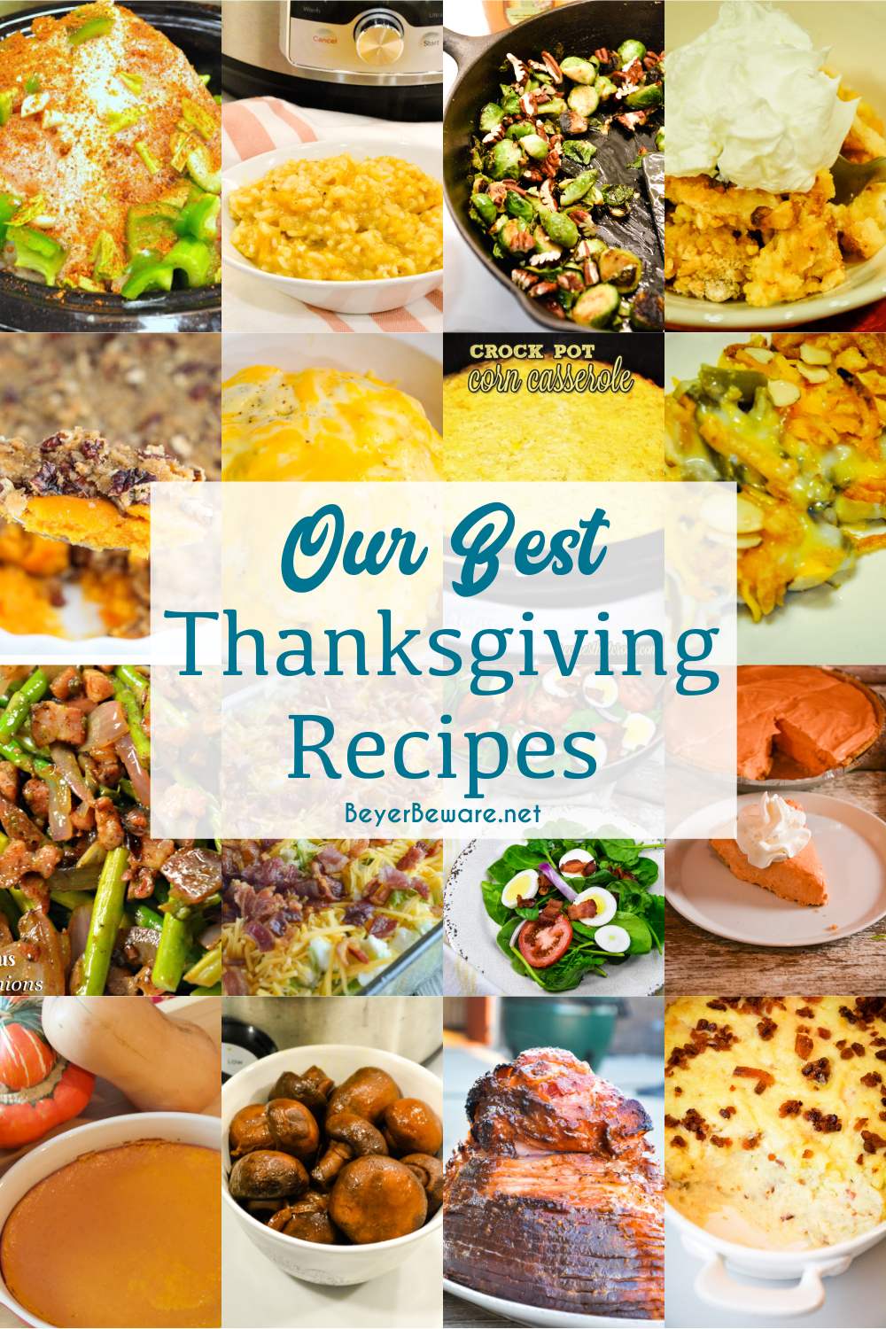 Thanksgiving is just a week away, and we decided you all neededto know our best Thanksgiving recipes for inspiration. We havebrought you ourfamily's favorites on the big holiday. Everything from appetizers to side dishes to the turkey as well as salads and cocktails are included in ourbest Thanksgiving recipes.