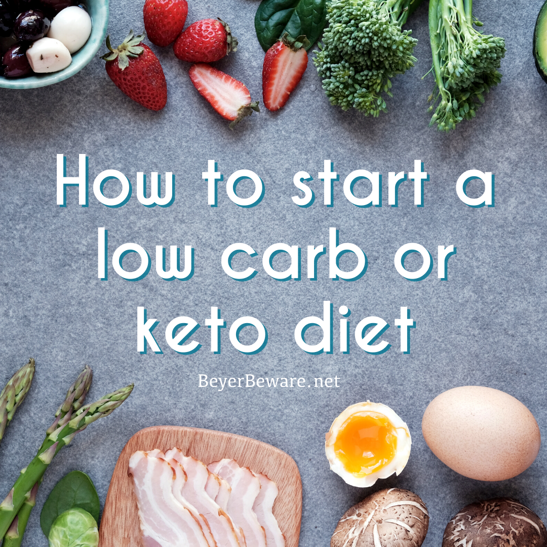 How to start a low carb or keto diet - Food lists, meal plans, and recipes for helping be successful on a low carb diet.