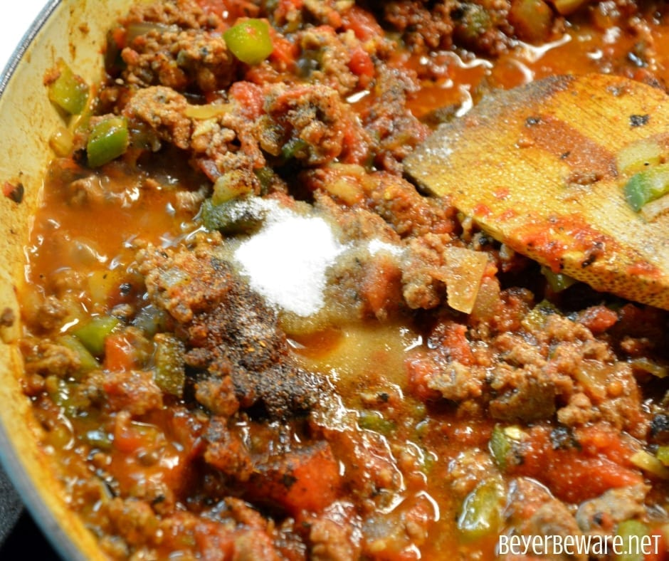 Crock Pot Low Carb Taco Chili Dogs Casserole is a quick meal cooked in a casserole crock pot while your run around to evening activities. #Lowcarb #Keto #CrockPot #Casserole