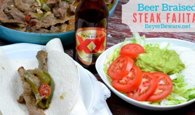 Beer Braised Steak Fajitas