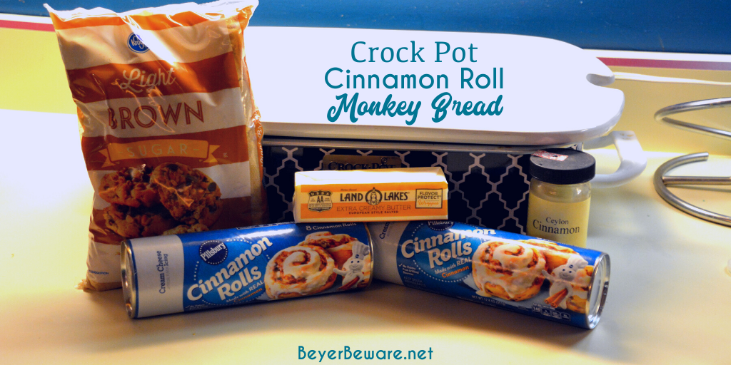 Crock Pot Cinnamon Roll Monkey Bread Ingredients